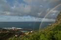 Rainbow over northern coast of Madeira, Portugal.