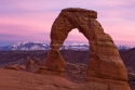 Sunset over Delicate Arch, Arches National Park, Utah, USA