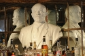 Sculpted torso of Lenin in a bar, Longyearbyen, Svalbard