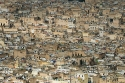 Aerial views of the ancient Medina of Fez, Morocco