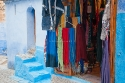Souvenirs shop in Chaouen, Morocco, also known as