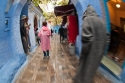 Street in Chaouen, Morocco, also known as