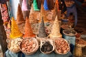 Street spice shop in Chaouen, Morocco, also known as